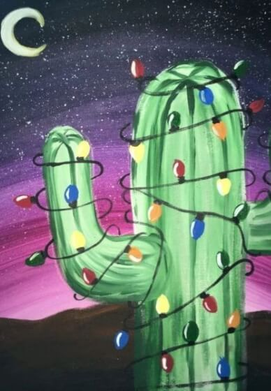 Paint and Sip Class - Christmas Cactus (Dec 16)