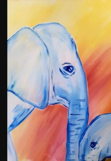 Paint and Sip Class - Elephant Baby (Feb 23)