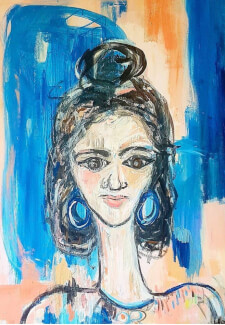 Paint and Sip Class - Expressive Portraits
