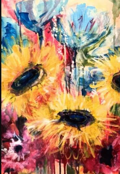 Paint and Sip Class - Flower Frenzy (Feb 23)