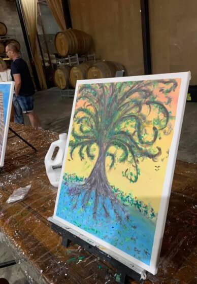 Paint and Sip Class for Mindfulness