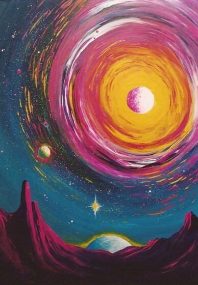 Paint and Sip Class: Galaxy