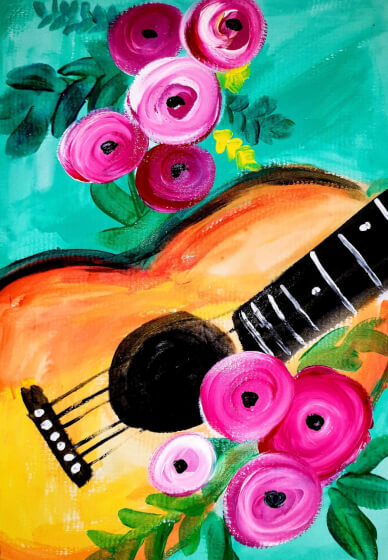 Paint and Sip Class - Guitars & Roses (Mar 01)