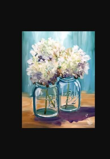 Paint and Sip Class - Heavenly Hydrangeas (Nov 14)