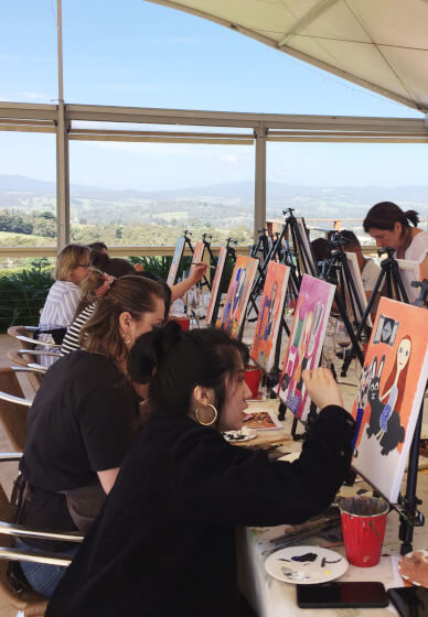 Paint and Sip Class in the Yarra Valley