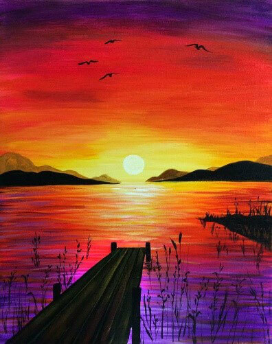 Paint and Sip Class: Jetty Sunset