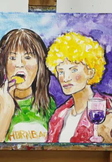 Paint and Sip Class - Kath and Kim Tribute