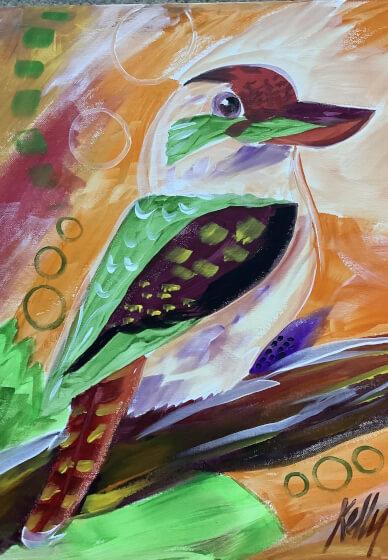 Paint and Sip Class: Kookaburra