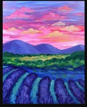 Paint and Sip Class - Lavender Fields (Sep 01)