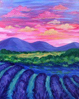 Paint and Sip Class - Lavender Fields (Sep 22)