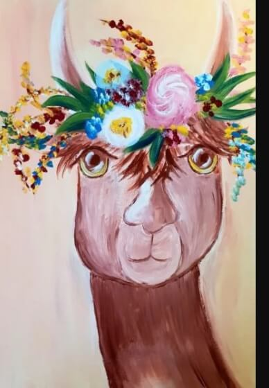 Paint and Sip Class - Llama Drama (Jan 17)