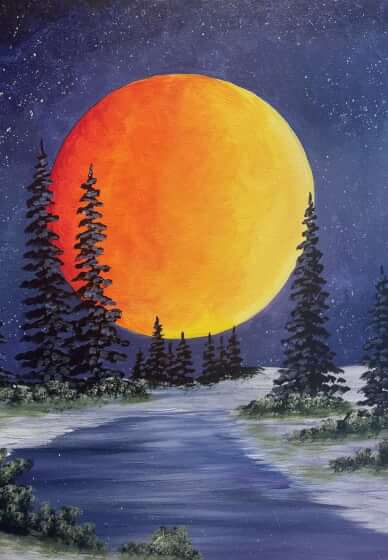 Paint and Sip Class: Midnight Glow