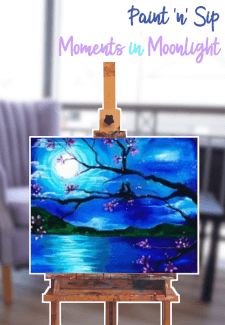 Paint and Sip Class - Moments in Moonlight