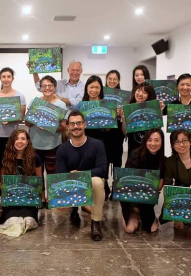 Paint and Sip Class: Monet Water Lilies
