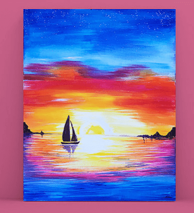 Paint and Sip Class - Moreton Bay Sunset Sky