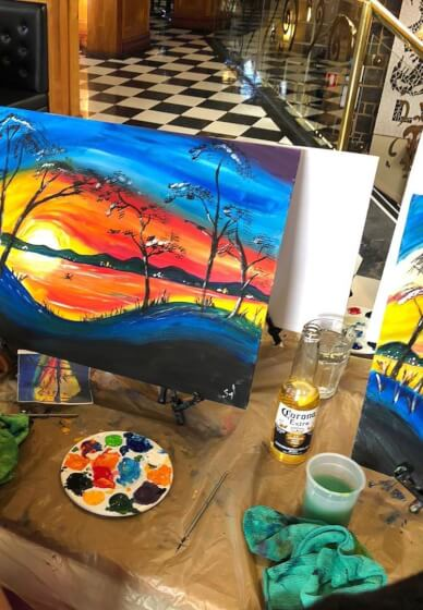 Paint and Sip Class: Paint a Sunrise by the River