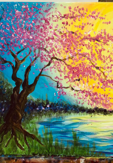 Paint and Sip Class - Paint a Sunset