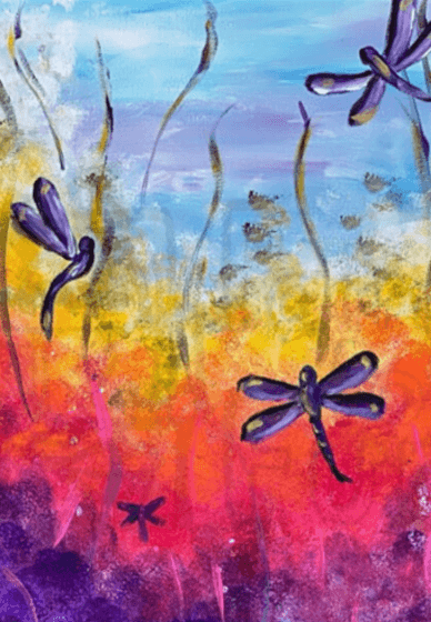 Paint and Sip Class: Paint Dragonflies in the Park