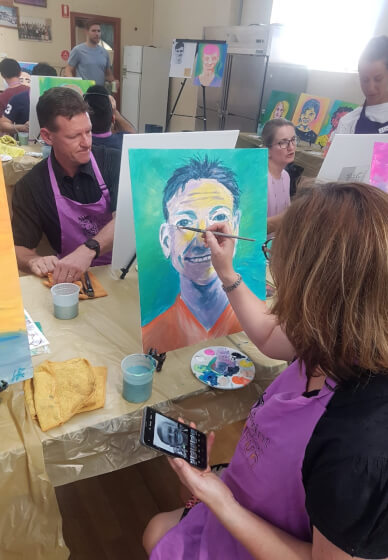 Paint and Sip Class: Paint Your Colleague