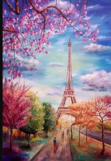Paint and Sip Class - Paris in Spring (Nov 11)