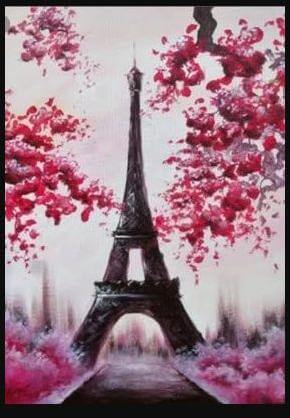 Paint and Sip Class - Paris in Spring (Sep 30)