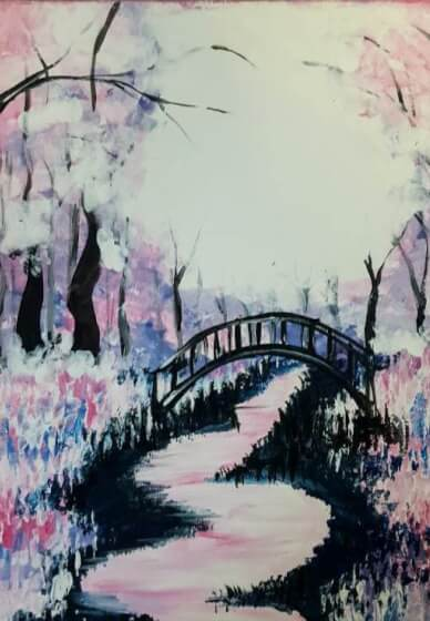Paint and Sip Class - Pink Forest (Feb 14)