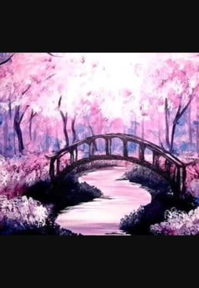 Paint and Sip Class - Pink Forest (Nov 17)