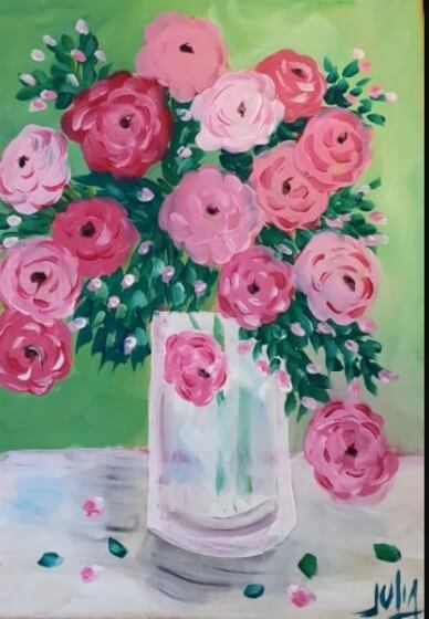 Paint and Sip Class - Pink Roses (Jan 30)