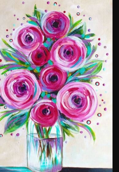 Paint and Sip Class - Pink Roses (Sept 21)
