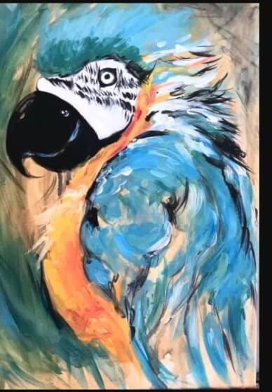 Paint and Sip Class - Polly Wants a Cracker (Dec 17)