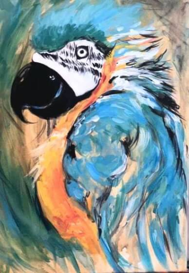 Paint and Sip Class - Polly Wants a Cracker (Dec 29)