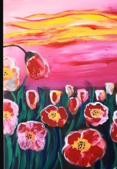 Paint and Sip Class - Poppies (Jan 10)