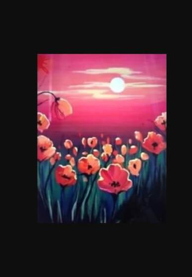 Paint and Sip Class - Poppy Fields (Oct 28)