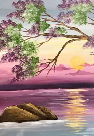 Paint and Sip Class: Pure Tranquility