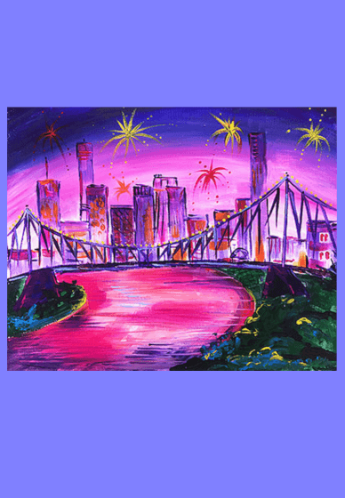 Paint and Sip Class - Rivercity Riverfire