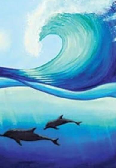 Paint and Sip Class - Seawater Dolphins (Oct 07)