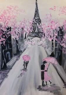 Paint and Sip Class - Spring in Paris (Jan 27)