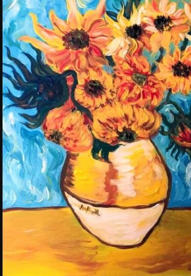 Paint and Sip Class - Sunflowers (Feb 13)