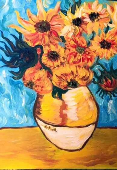 Paint and Sip Class - Sunflowers (Jan 27)