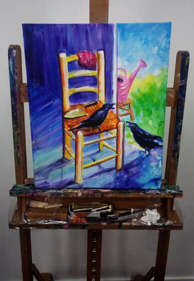 Paint and Sip Class: the Chair by Van Gogh