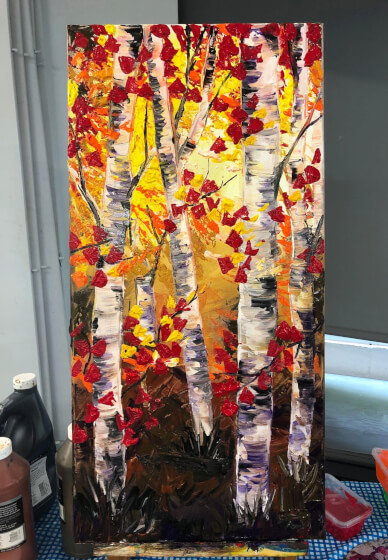 Paint and Sip Class - the Silver Birch