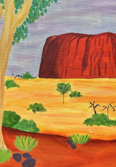 Paint and Sip Class: Uluru