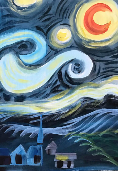 Paint and Sip Class - Van Gogh Starry Night (Jan 05)