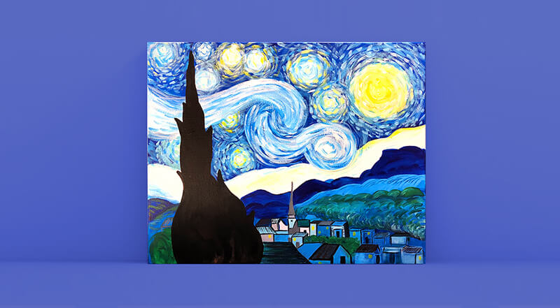 Paint and Sip Class - Van Gogh's Starry Night