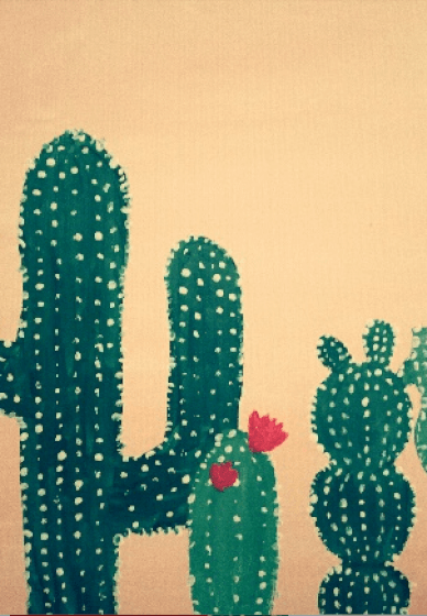 Paint and Sip Class: Vintage Cactuses
