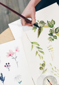 Paint and Sip Class: Watercolour Flowers