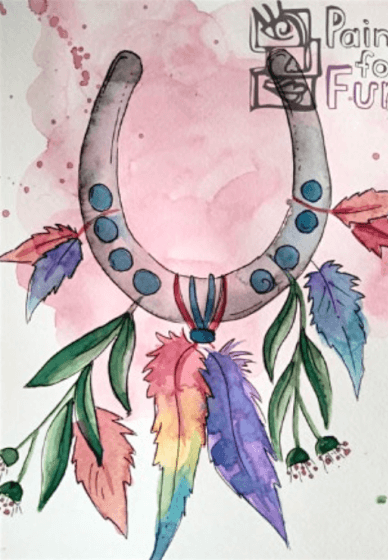 Paint and Sip Class: Watercolour Horseshoe