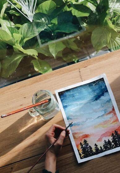 Paint and Sip Class: Watercolour Landscape