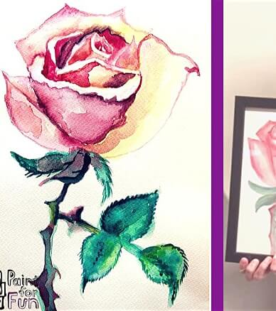 Paint and Sip Class: Watercolour Rose