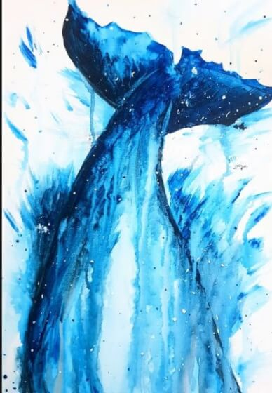 Paint and Sip Class - Whale of a Time (Dec 22)